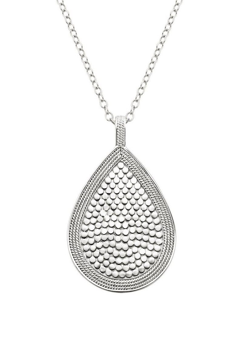 ANNA BECK Beaded Teardrop Necklace - Gold & Silver main image