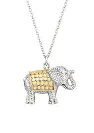 ANNA BECK Elephant Charity Necklace - Gold & Silver