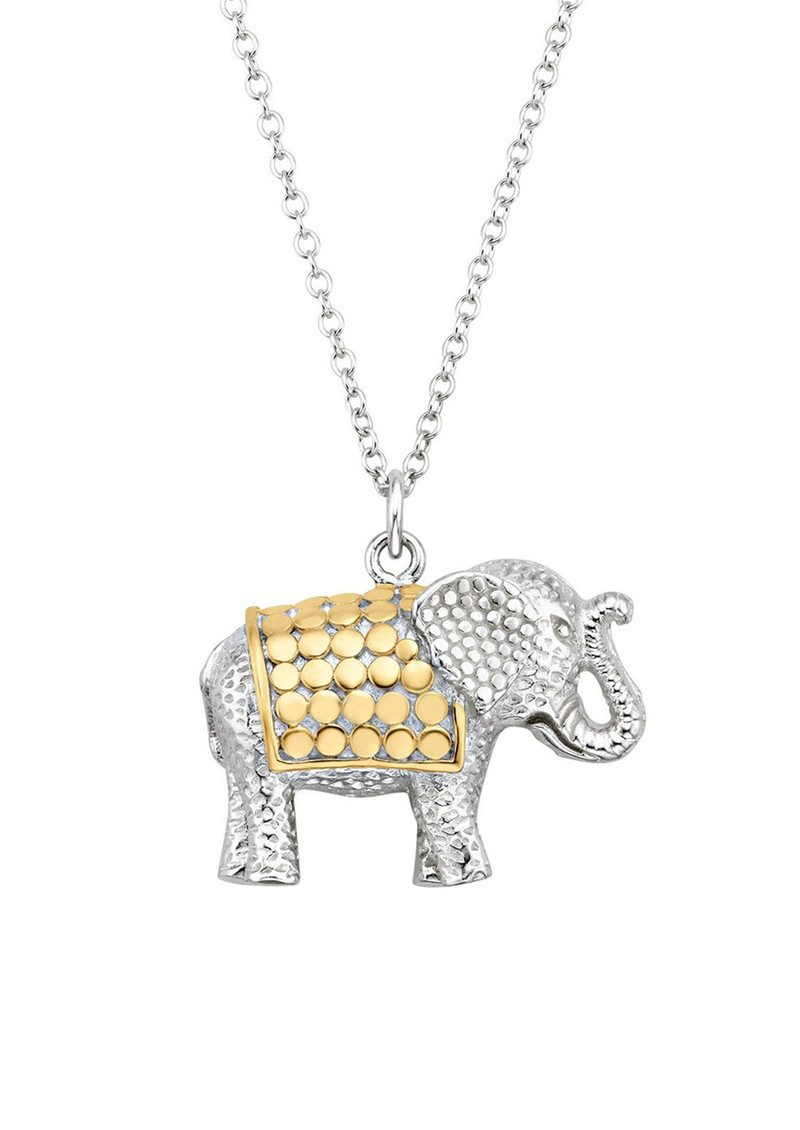 ANNA BECK Elephant Charity Necklace - Gold & Silver main image