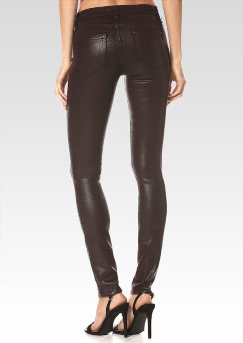 Paige Denim Verdugo Coated Skinny Jeans - Wine Luxe main image