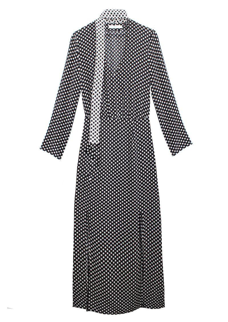 RIXO London Stella Neck Tie Midi Dress - Mini Star main image