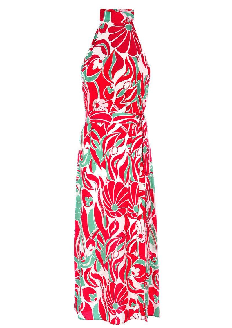 RIXO London Pearl Halter Neck Midi Dress - Abstract Oriental main image