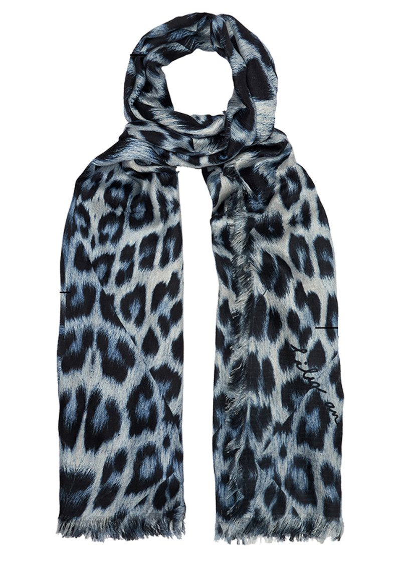 Kitty Leopard Scarf - Sky main image