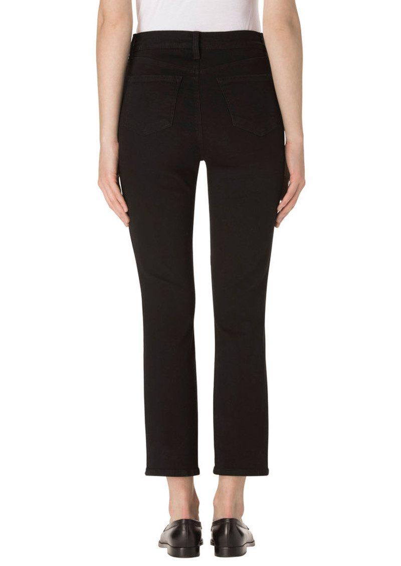 J Brand Ruby High Rise Crop Jeans - Shadow Black main image