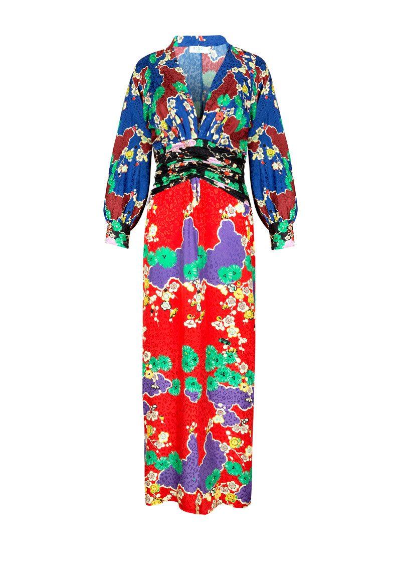 cd47fc75b41 Fedora Midi Blouson Sleeve Dress - Mixed Cherry Blossom main image