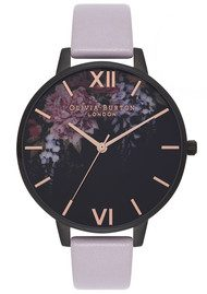 Olivia Burton After Dark Watch - Grey Lilac & IP Black