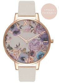 Olivia Burton Vegan Friendly Enchanted Garden Watch - Nude & Rose Gold