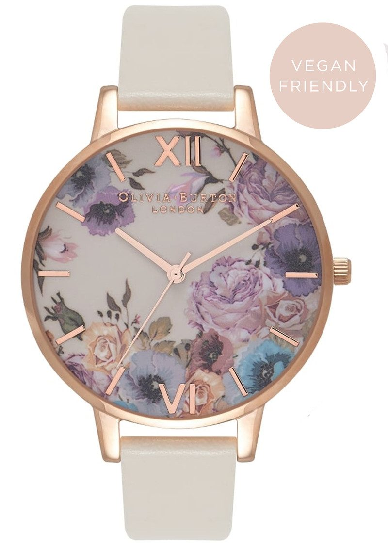 Olivia Burton Vegan Friendly Enchanted Garden Watch - Nude & Rose Gold main image