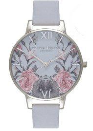 Olivia Burton Enchanted Garden Watch - Chalk Blue & Silver