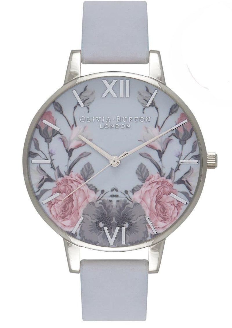 Olivia Burton Enchanted Garden Watch - Chalk Blue & Silver main image