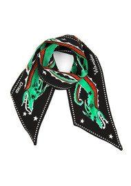 RIXO London Alexa Neckscarf - Green Dragon