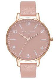 Olivia Burton Modern Vintage Rose Petal Dial Watch - Dusty Pink & Rose Gold