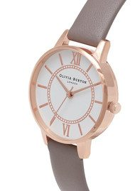 Olivia Burton Wonderland Watch - London Grey & Rose Gold