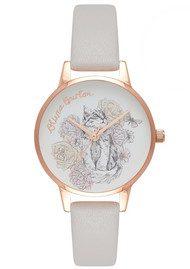 Olivia Burton Animal Motif Cat Watch - Blush & Rose Gold