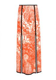 RIXO London Thalia Skirt - Red Oriental Jungle