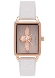 Olivia Burton 3D Blush Dial Watch - Blush & Rose Gold