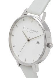 Olivia Burton Vegan Friendly Queen Bee Watch - Grey & Silver