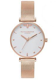 Olivia Burton Queen Bee Watch - Rose Gold Mesh