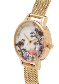 Olivia Burton English Garden Midi Watch - Gold Mesh
