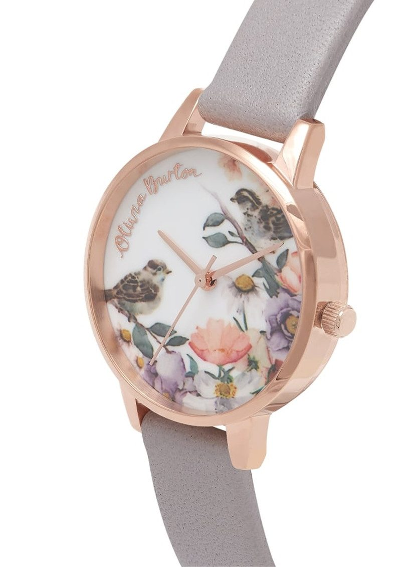 English Garden Midi Watch - Grey Lilac & Rose Gold main image