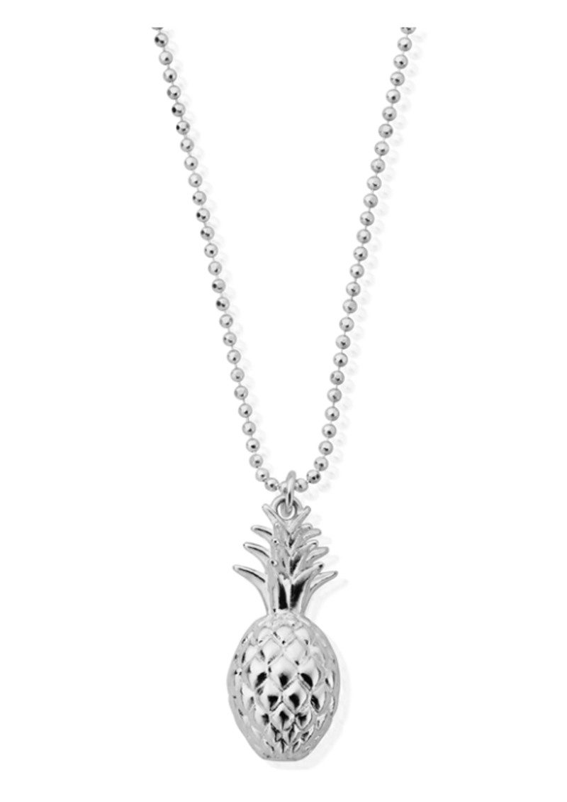 ChloBo Diamond Cut Chain Necklace with Pineapple - Silver main image