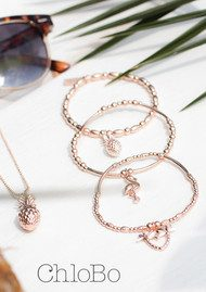 ChloBo Stack of 3 Under the Palms - Rose Gold
