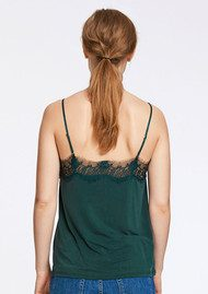 SAMSOE & SAMSOE Slip Lace Camisole - Darkest Spruce