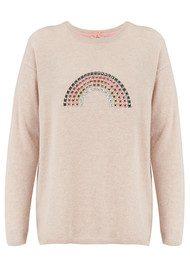 COCOA CASHMERE Rainbow Hotfix Cashmere Sweater - Oatmeal