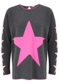 COCOA CASHMERE Star Cashmere Sweater - Candy, Ash & Peach Fizz