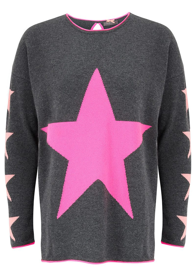 Star Cashmere Sweater - Candy, Ash & Peach Fizz main image
