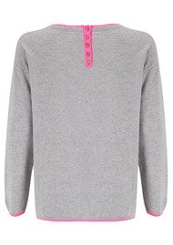 COCOA CASHMERE Pout Cashmere Sweater - Grey & Candy