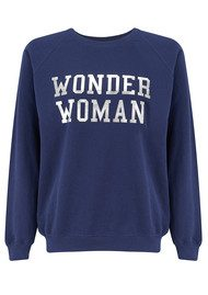 ON THE RISE Wonder Woman Sweatshirt - Navy & Silver
