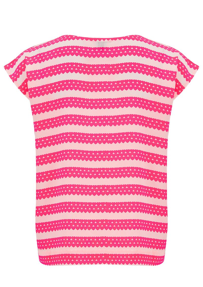 Exclusive Blair Top - Neon Pink Hearts main image