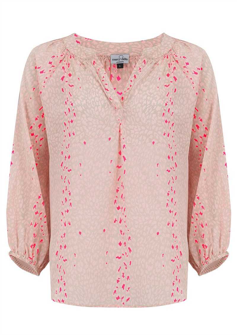 Mercy Delta Clevedon Safari Blouse - Blush main image