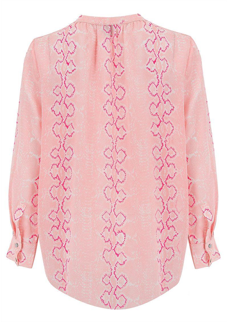 Mercy Delta Stowe Long Sleeve Blouse - Python Blush main image