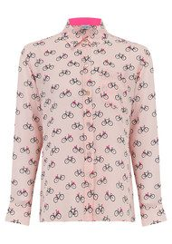 Mercy Delta Goodwood Silk Shirt - Cambridge Blush