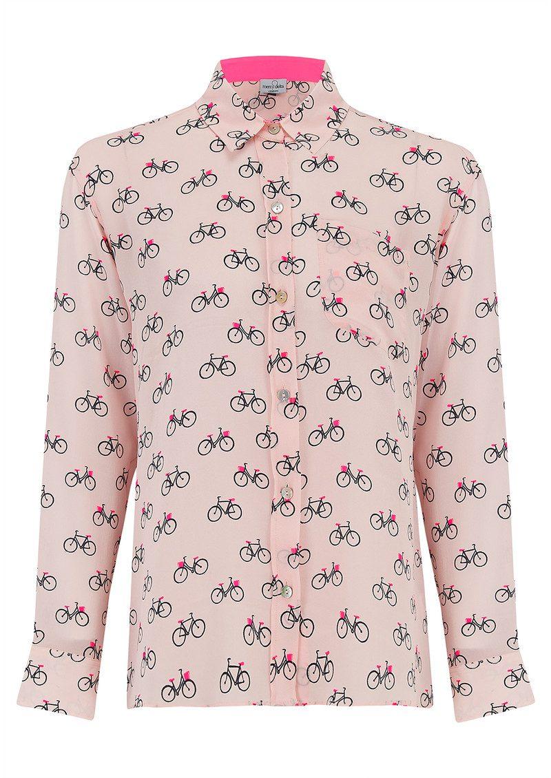 Mercy Delta Goodwood Silk Shirt - Cambridge Blush main image