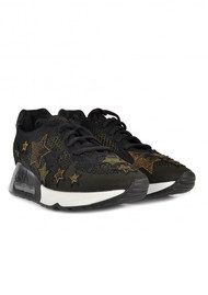 Ash Lucky Star Knit Trainers - Black & Army