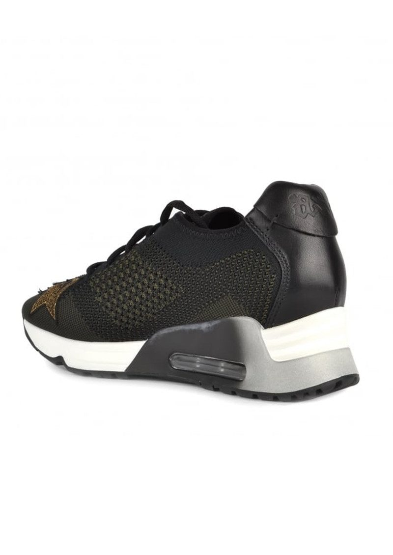 Ash Lucky Star Knit Trainers - Black & Army main image
