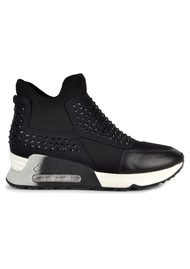 Ash Laser Stone Trainers - Black