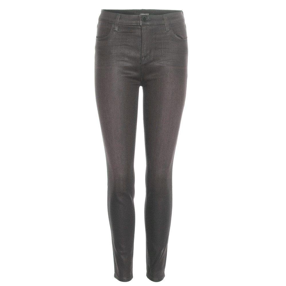 Alana Coated Skinny Jeans - Coated Chrome