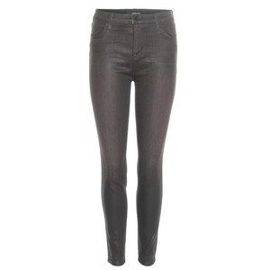 Alana Coated Skinny Jeans - Coated Chrome