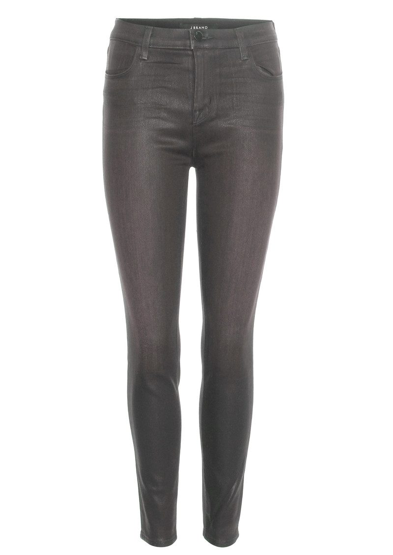 J Brand Alana Coated Skinny Jeans - Coated Chrome main image
