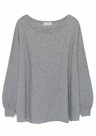 American Vintage Lorkford Long Sleeve Top - Heather Grey