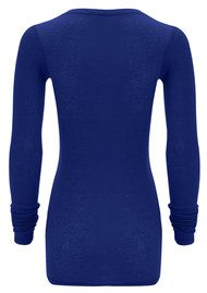 American Vintage Massachusetts Long Sleeve T-Shirt - Prussian Blue