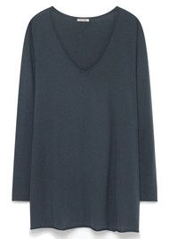 American Vintage Blossom V Neck Sweater - Darkness