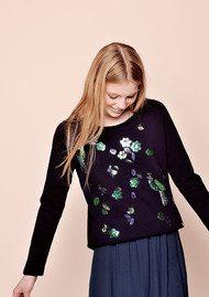 Des Petits Hauts  Idana Sequined Sweater - Marine