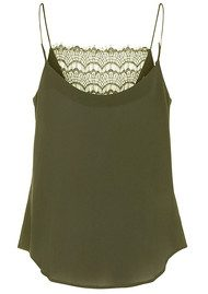 CUSTOMMADE Elvira Lace Camisole - Dark Olive