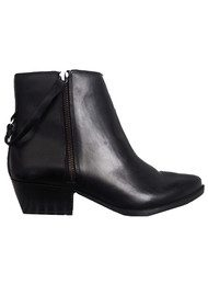 Hudson London Larry Leather Ankle Boot - Black