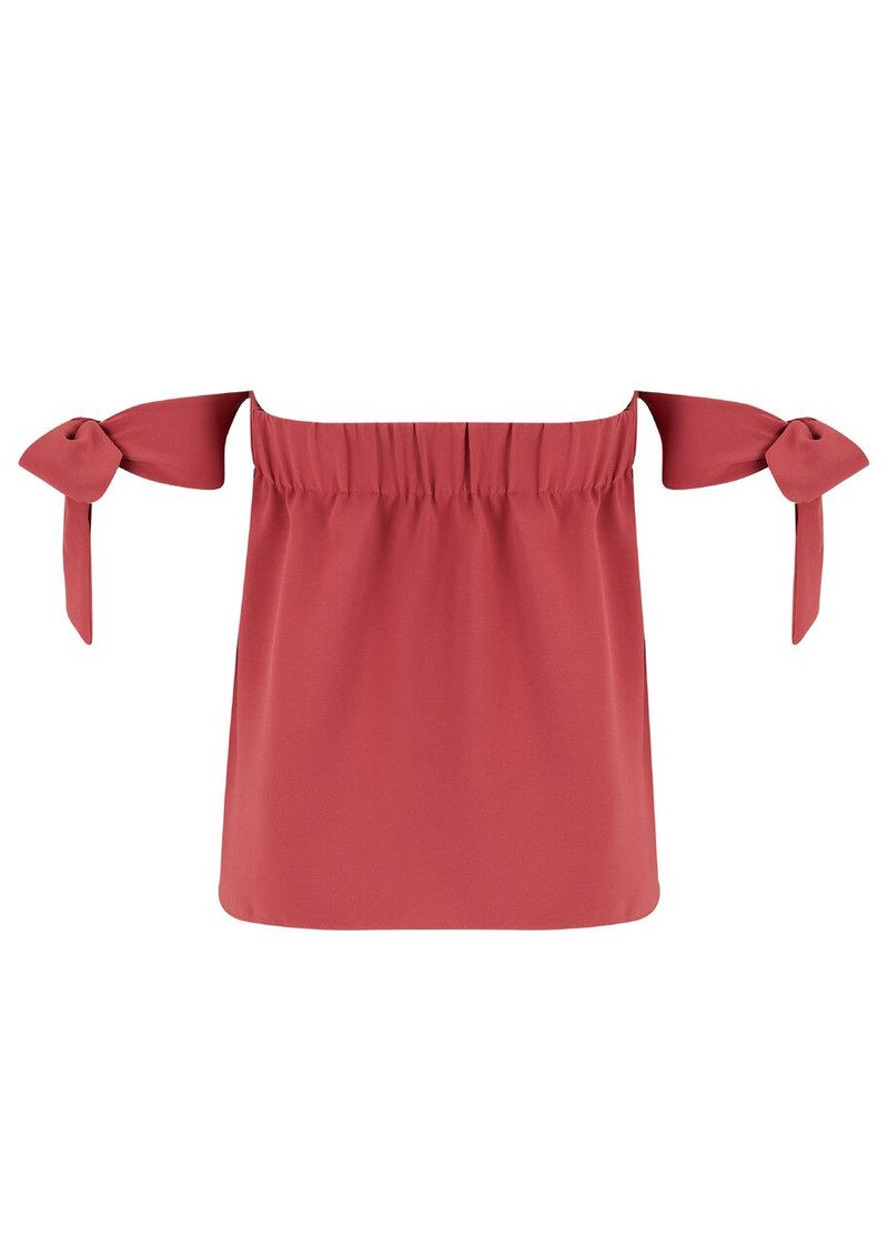 COOPER AND ELLA Lova Bow Top - Brick Red main image